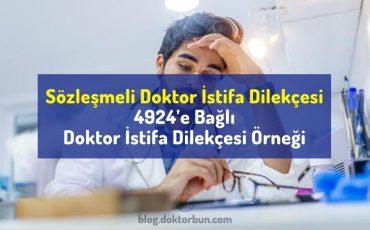 Sözleşmeli Doktor İstifa Dilekçesi örneği | 4924'e Bağlı Doktor İstifa Dilekçesi
